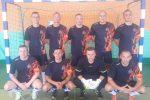 Turniej ćwierćfinałowy w halowej piłce nożnej o Puchar Dolnośląskiego Komendanta Wojewódzkiego PSP we Wrocławiu.