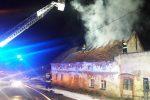 Pożar budynku w miejscowości Spalona