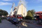 Pożar kamienicy w Chojnowie