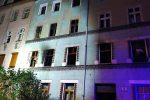 Pożar mieszkania w budynku wielorodzinnym przy ul. Kwiatowej 9 w Legnicy